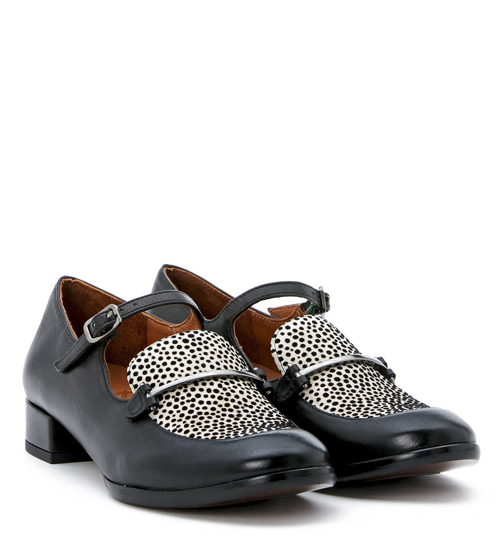Chie mihara Mocassino In Pelle Nera E Pois in Black (NERO) | Lyst