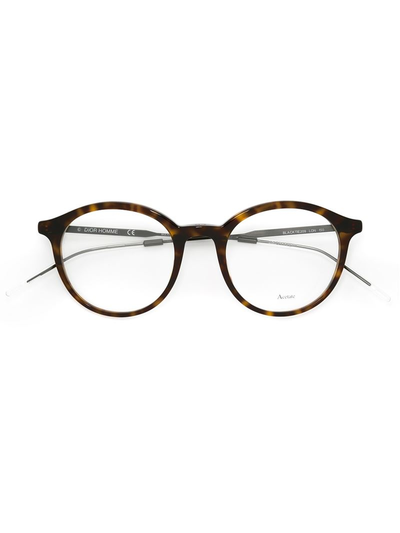 Dior Homme Round Frame Glasses in Brown for Men - Lyst