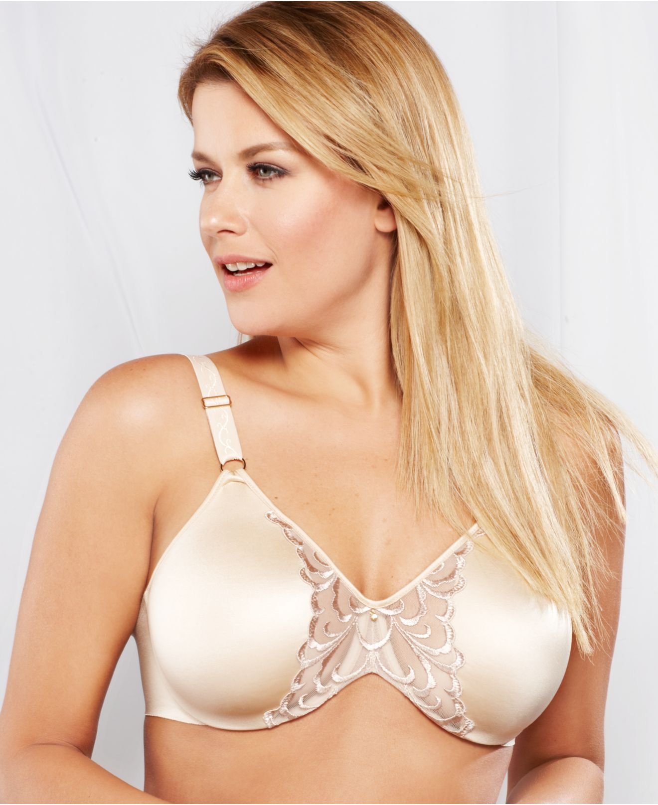 84123350c6 Lyst - Lilyette By Bali Magnificent Beauty Embellished Minimizer Bra ...