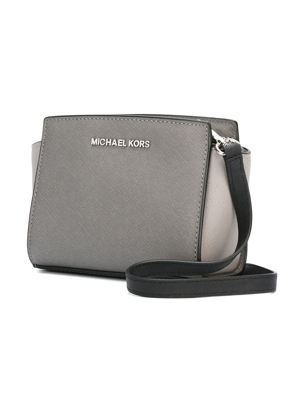 5fe04c978cfa Lyst - MICHAEL Michael Kors  selma  Crossbody Bag in Gray