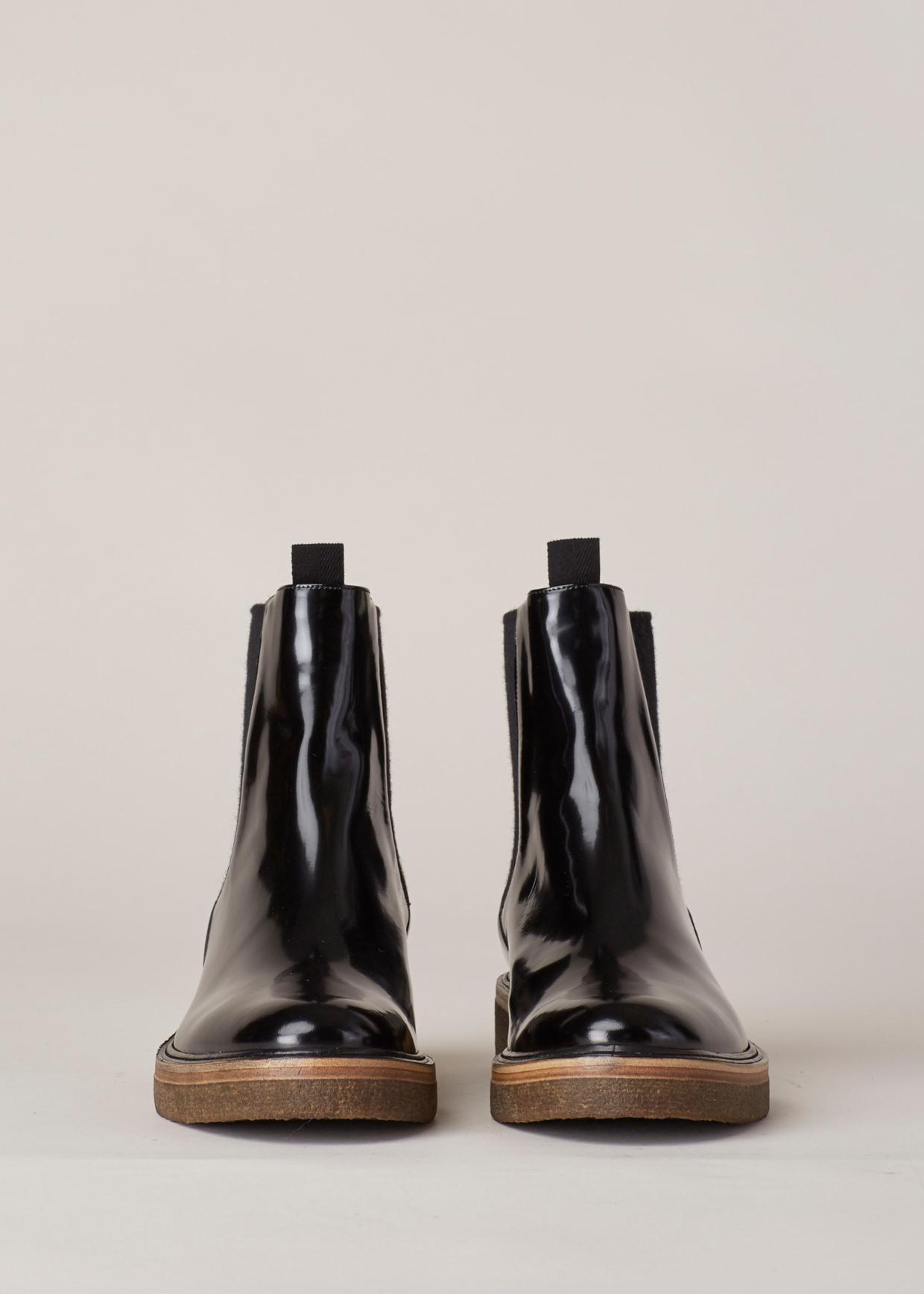 dae3b04e009 Lyst - Dries Van Noten Gloss Black Pull On Chelsea Boot in Black for Men