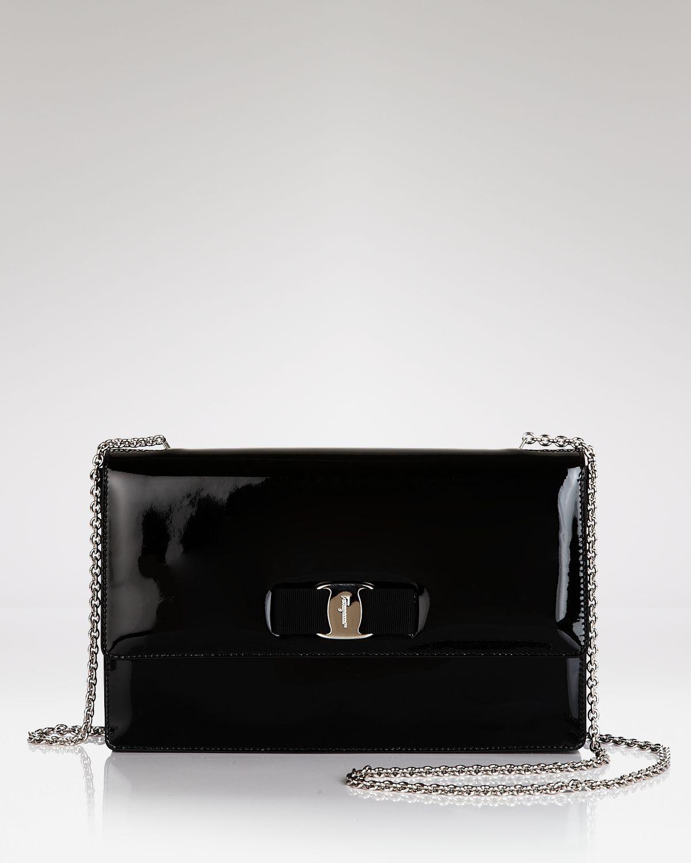 84ca3cd49b1e Lyst - Ferragamo Mini Bag - Ginny Patent in Black