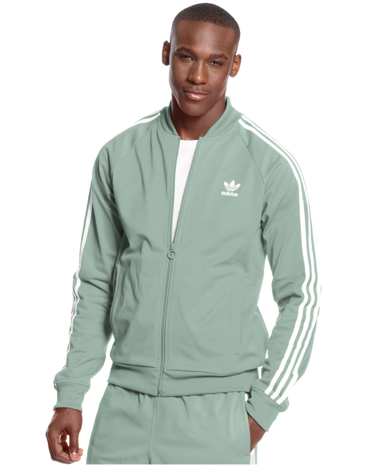 40e0c82ec9df2a Lyst - adidas Originals Superstar Track Jacket in Gray for Men
