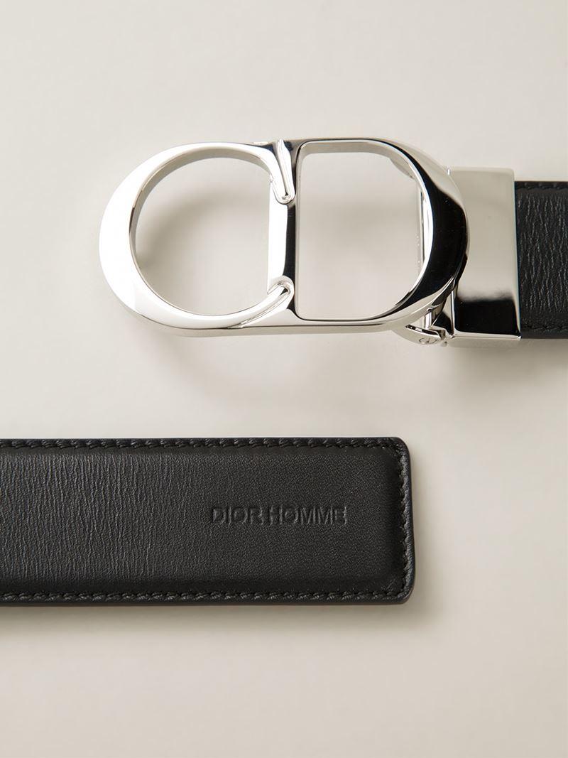 04862bf2ff57a Dior Homme Logo Buckle Belt In Black For Men Lyst