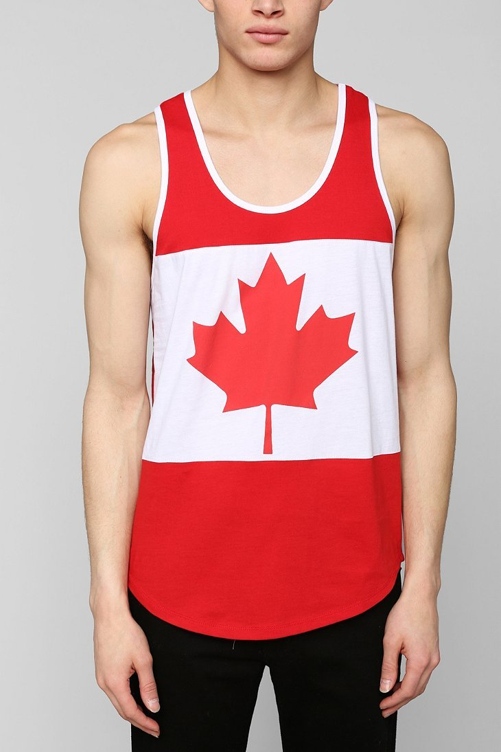 ce918d51e415c6 Lyst - Urban Outfitters Canada Flag Tank Top in Red for Men
