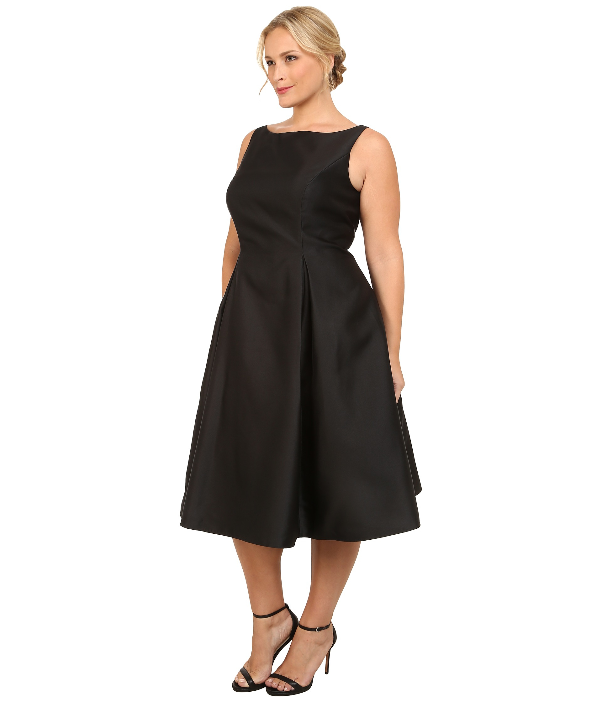 Lyst - Adrianna Papell Plus Size Sleeveless Tea Length ...