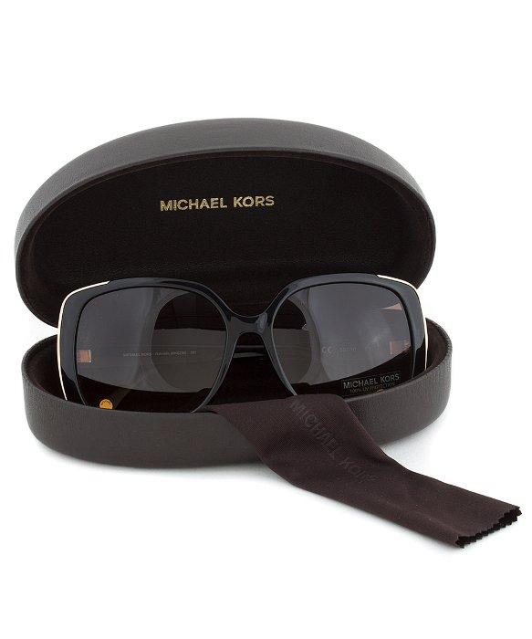 14afc3a82f Michael Kors Mks290 001 Gabriella Black Square Oversized Designer Sunglasses  in Black - Lyst