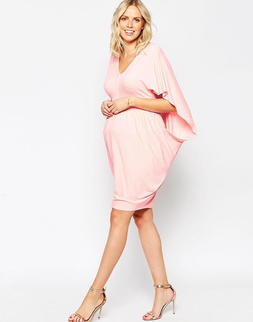 0536e70cb3791 ASOS Kimono Drape Bodycon Dress in Pink - Lyst