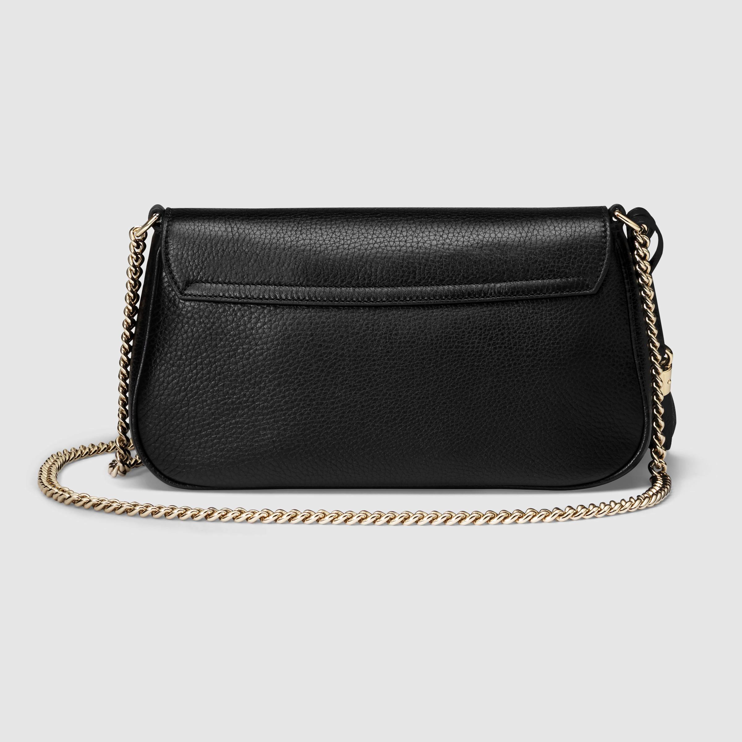 93590bdd891 Lyst - Gucci Soho Leather Shoulder Bag in Black