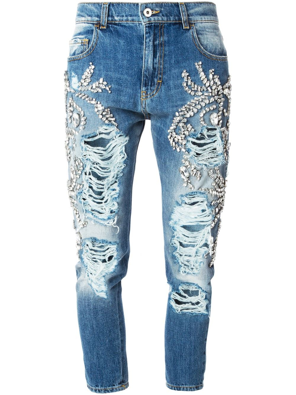 Marco bologna Loose-Fit Slim High-Waisted Denim Jeans in ...
