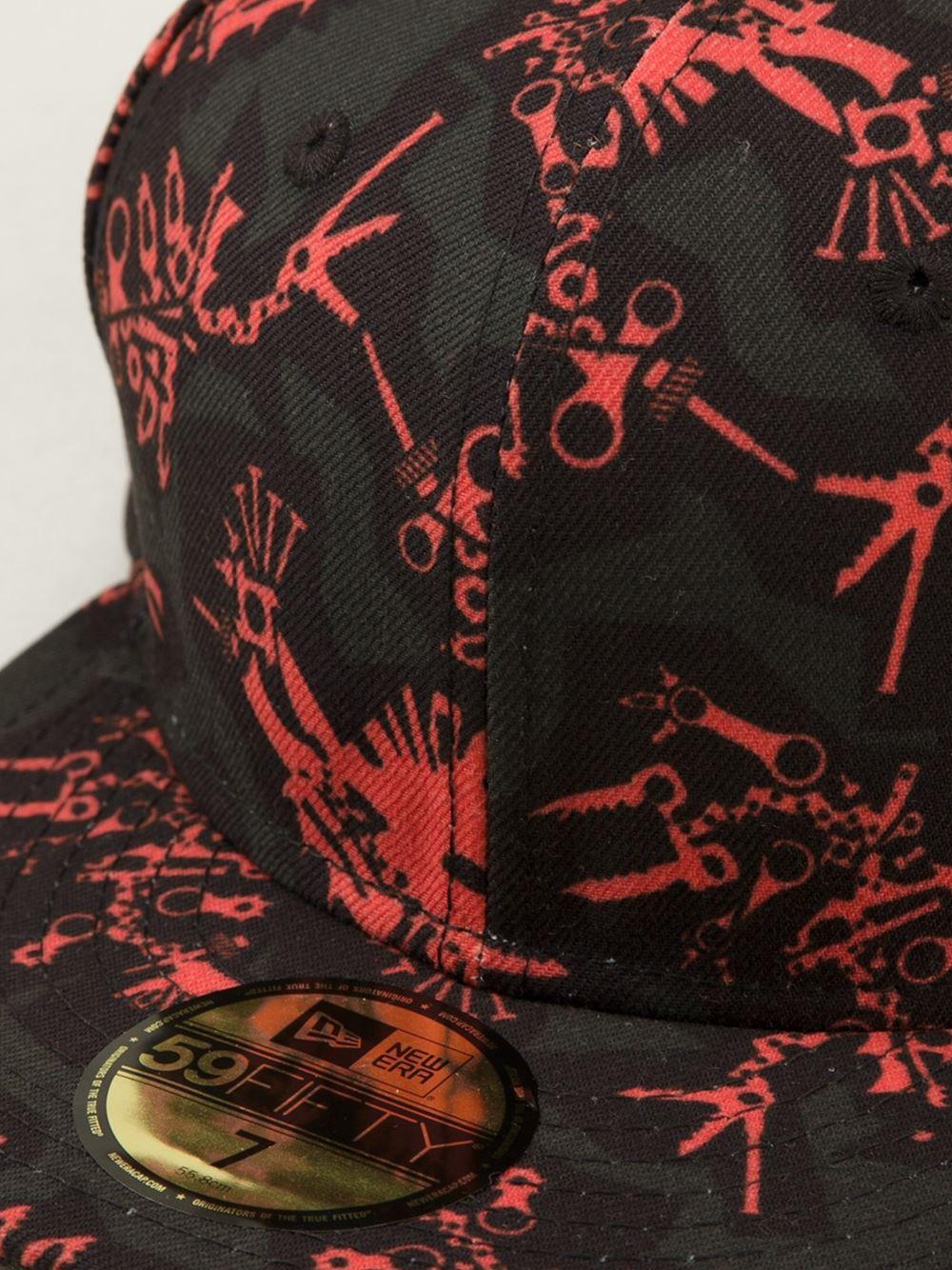 78d039d3a6d Lyst - KENZO  Little Monster New Era  Cap in Red for Men