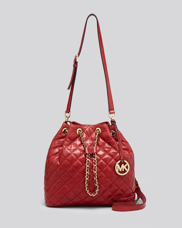 c63b653b Frankie Large Convertible Drawstring Shoulder Bag, Brown Lyst - Michael  Michael Kors Shoulder Bag - Susannah Large Qu ...