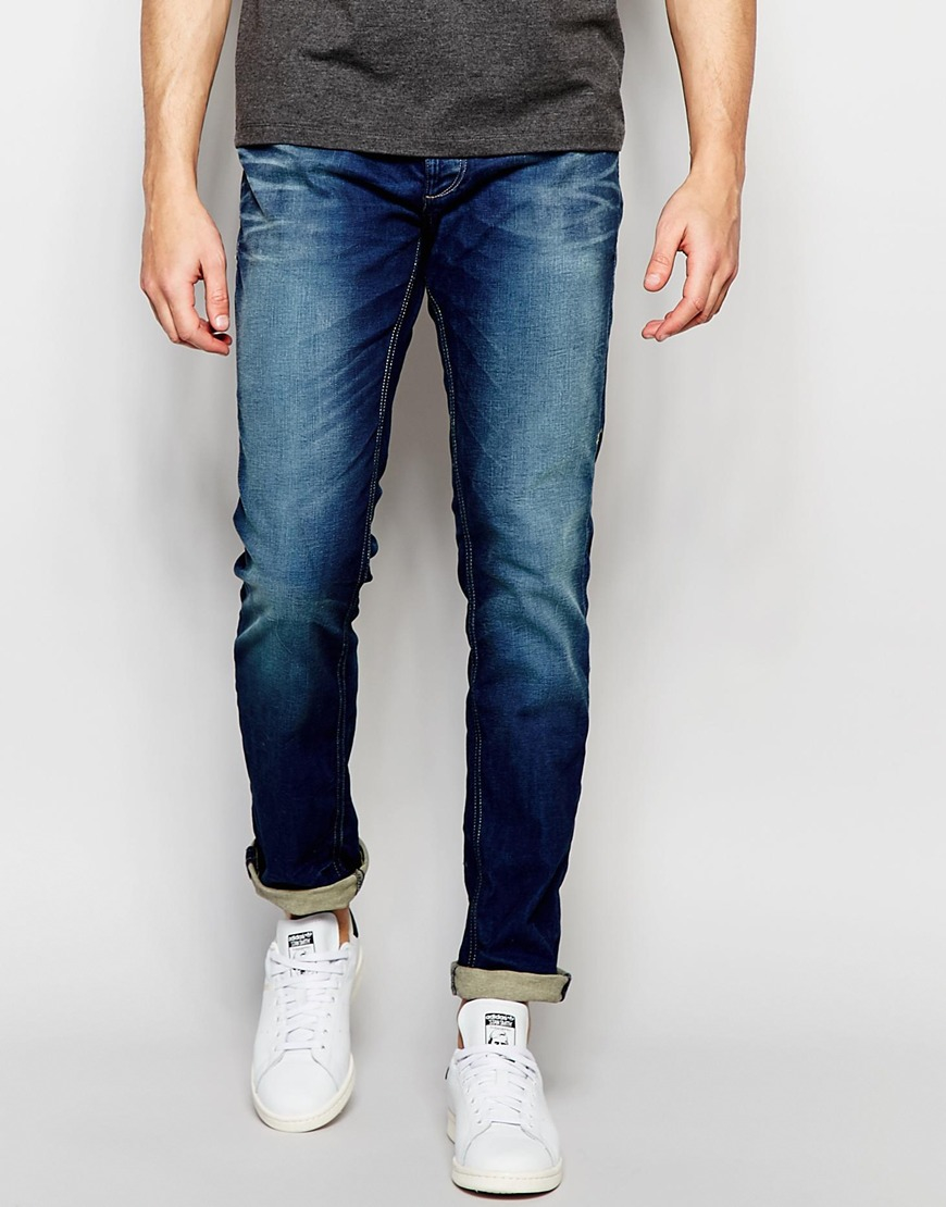 jack jones multicolor slim fit jeans in blue for men lyst. Black Bedroom Furniture Sets. Home Design Ideas