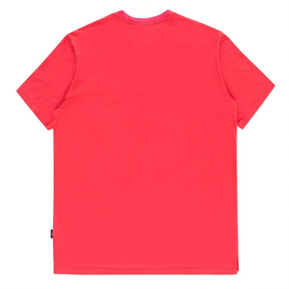 Paul Smith Men's Coral Patch-pocket T-shirt In Pink For