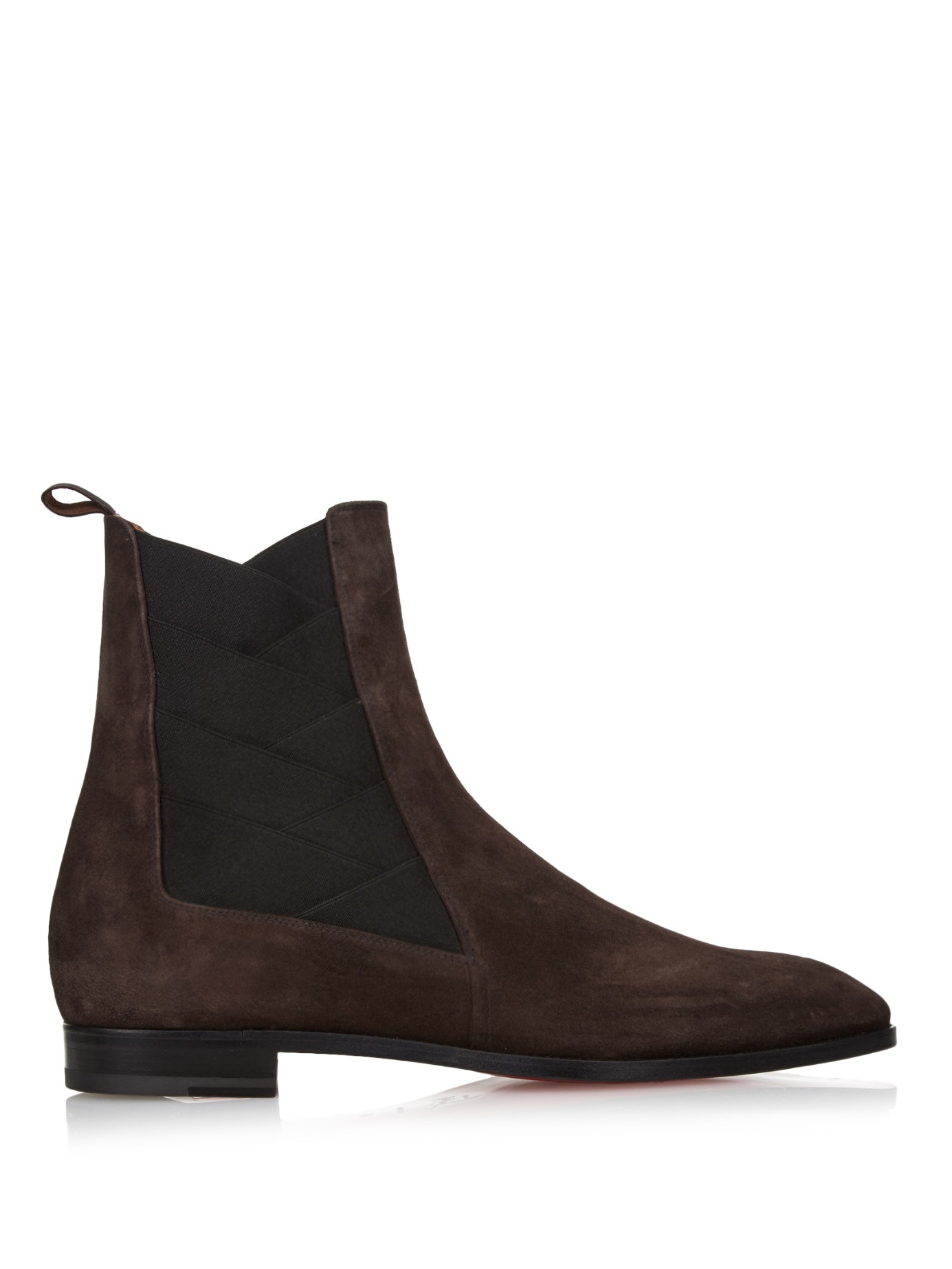 christian louboutin brian suede ankle boots in brown for
