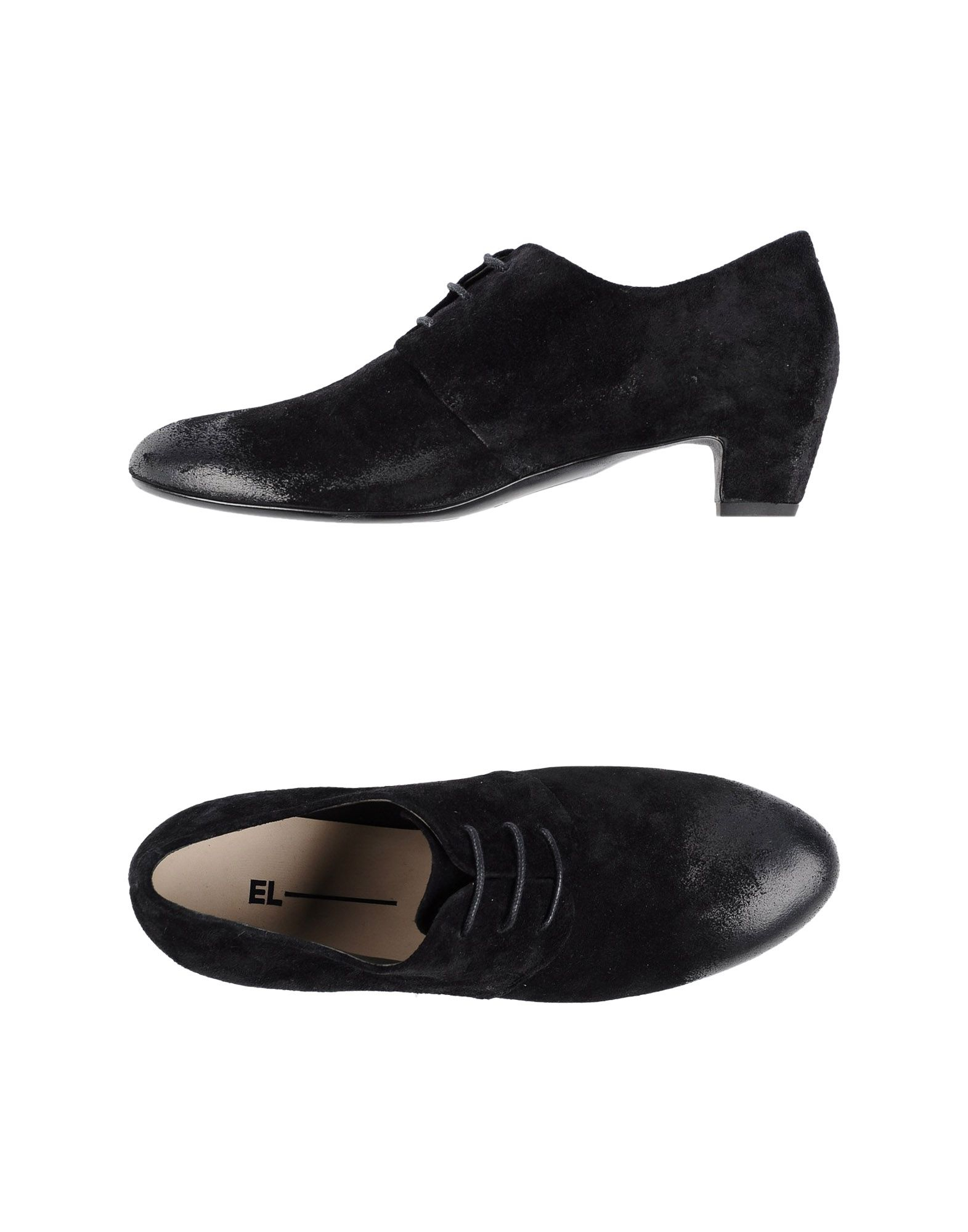 el lace up shoes in black lyst