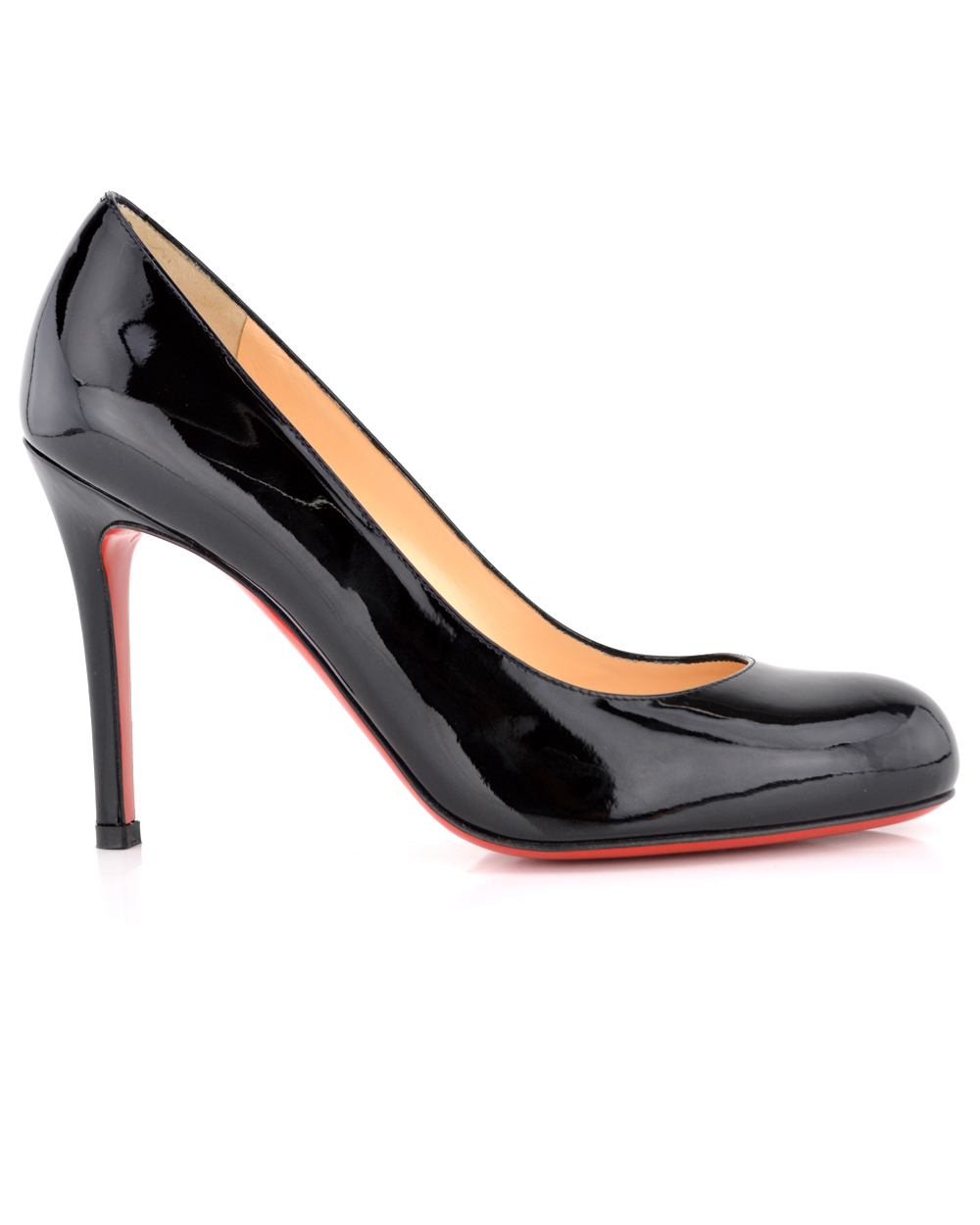 christian louboutin New Simple pumps Black leather round toes ...
