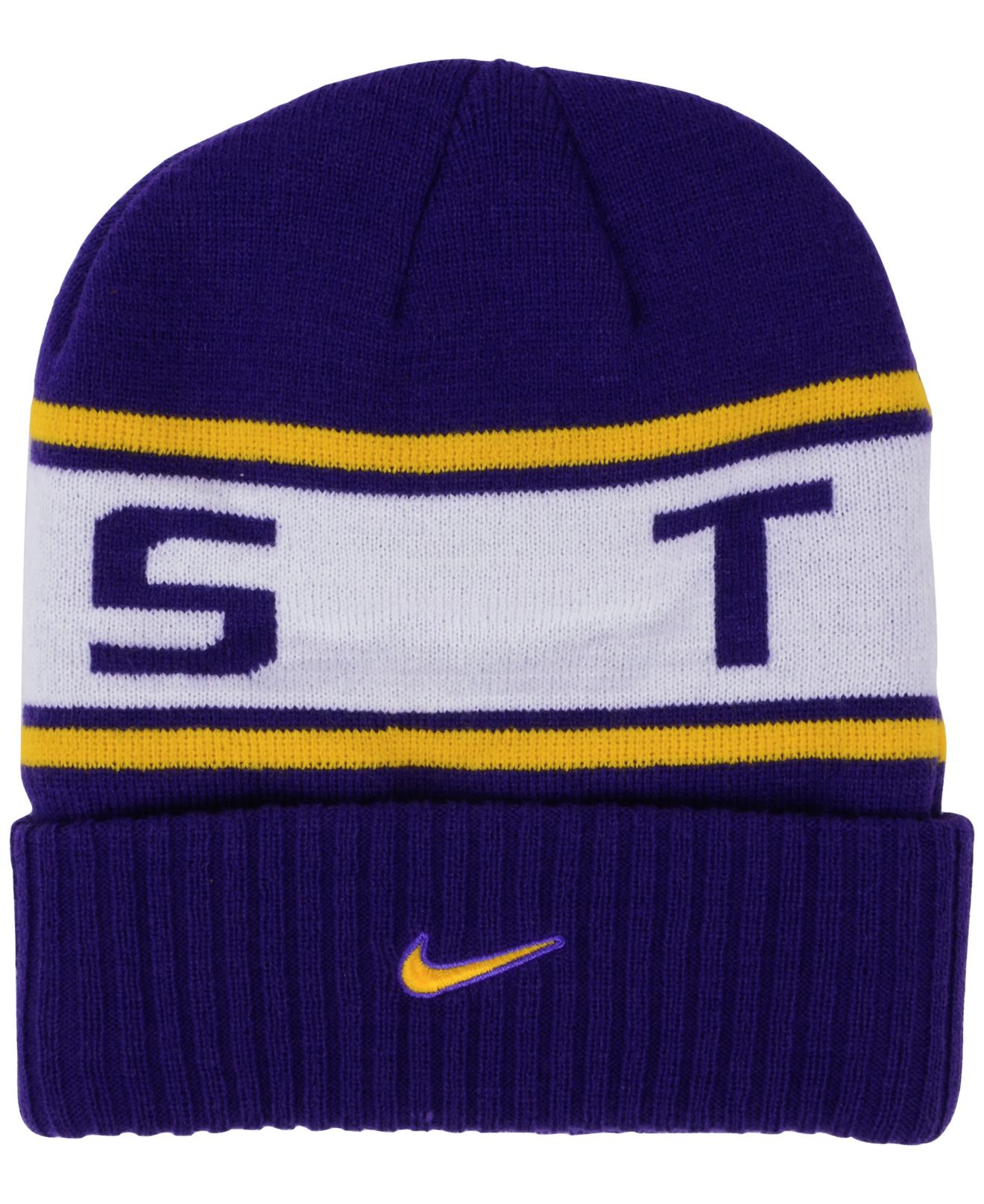 new concept 1f36e f6544 ... hot lyst nike lsu tigers sideline knit hat in blue for men 99cc2 64320