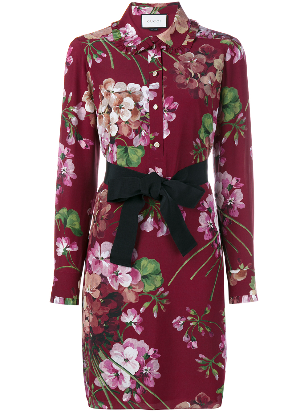 Lyst Gucci Floral Print Dress In Purple