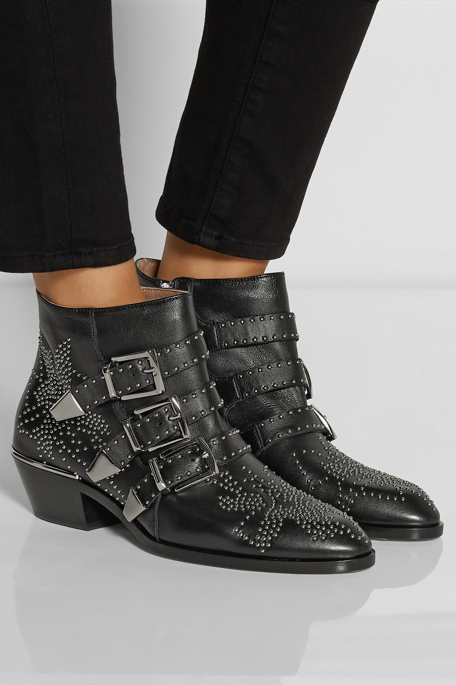 Chloé 'susanna' Ankle Boots in Black | Lyst