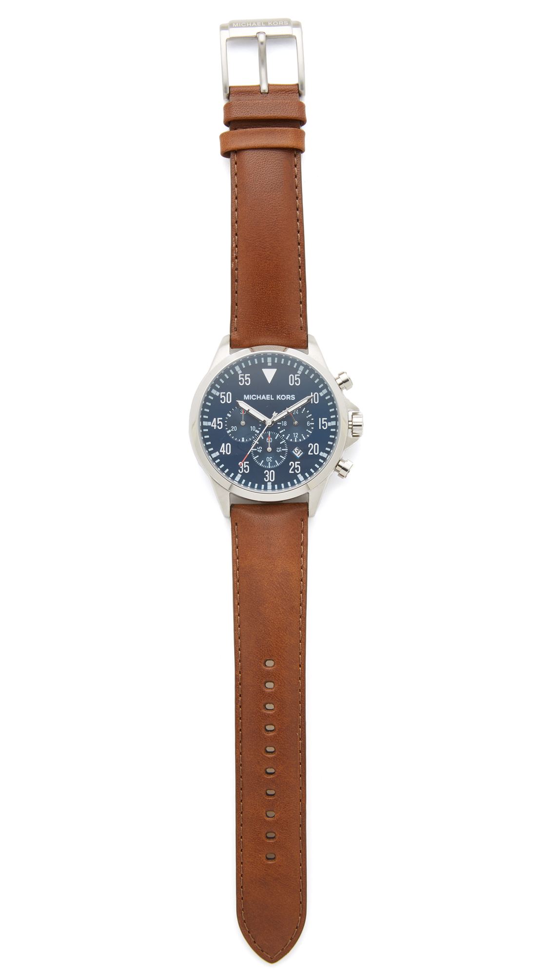 Michael kors gage chronograph watch in brown for men
