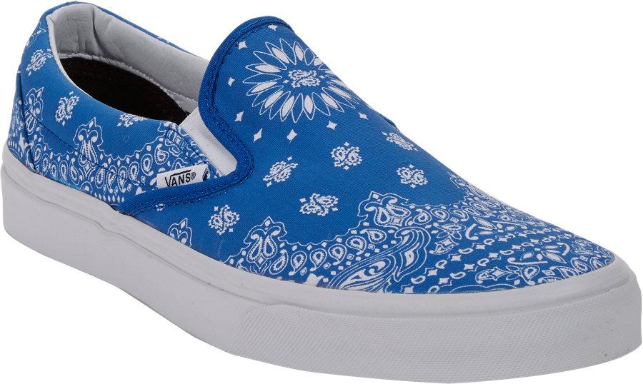 Vans Bandanaprint Classic Slipon Sneakers In Blue For Men
