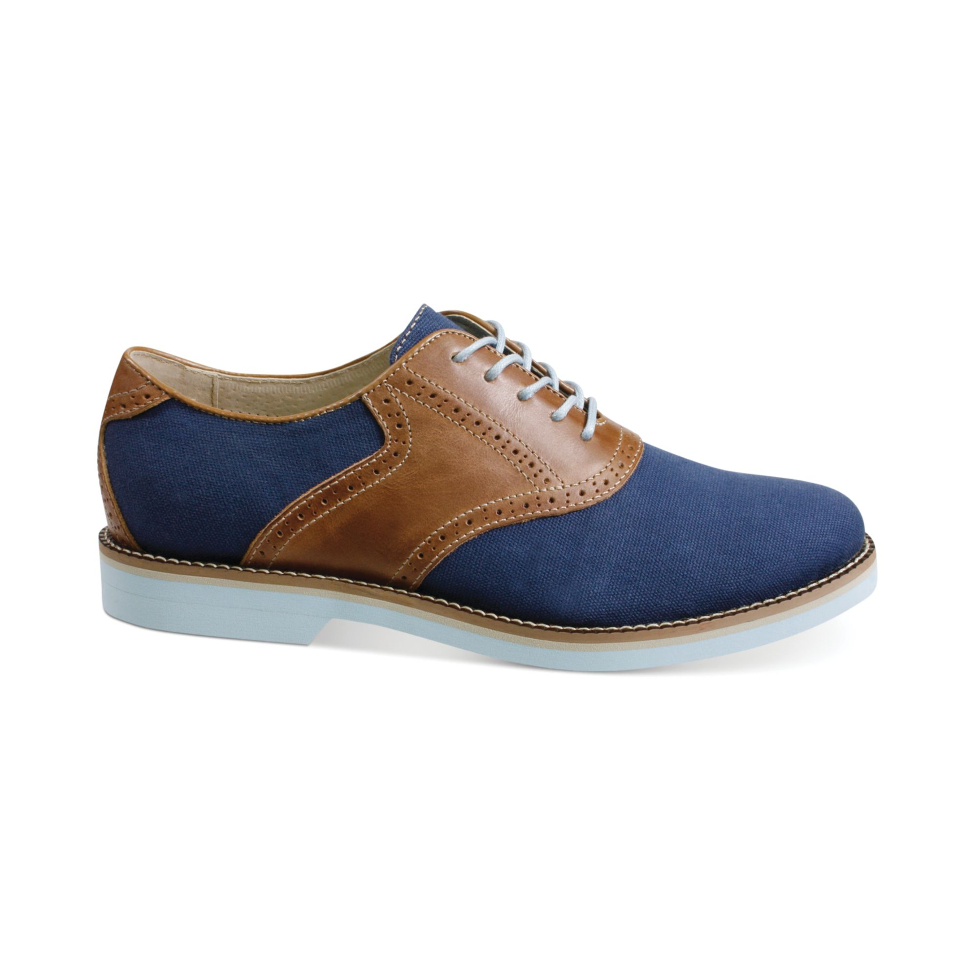 lyst gh bass amp co carson canvas oxfords in blue for men