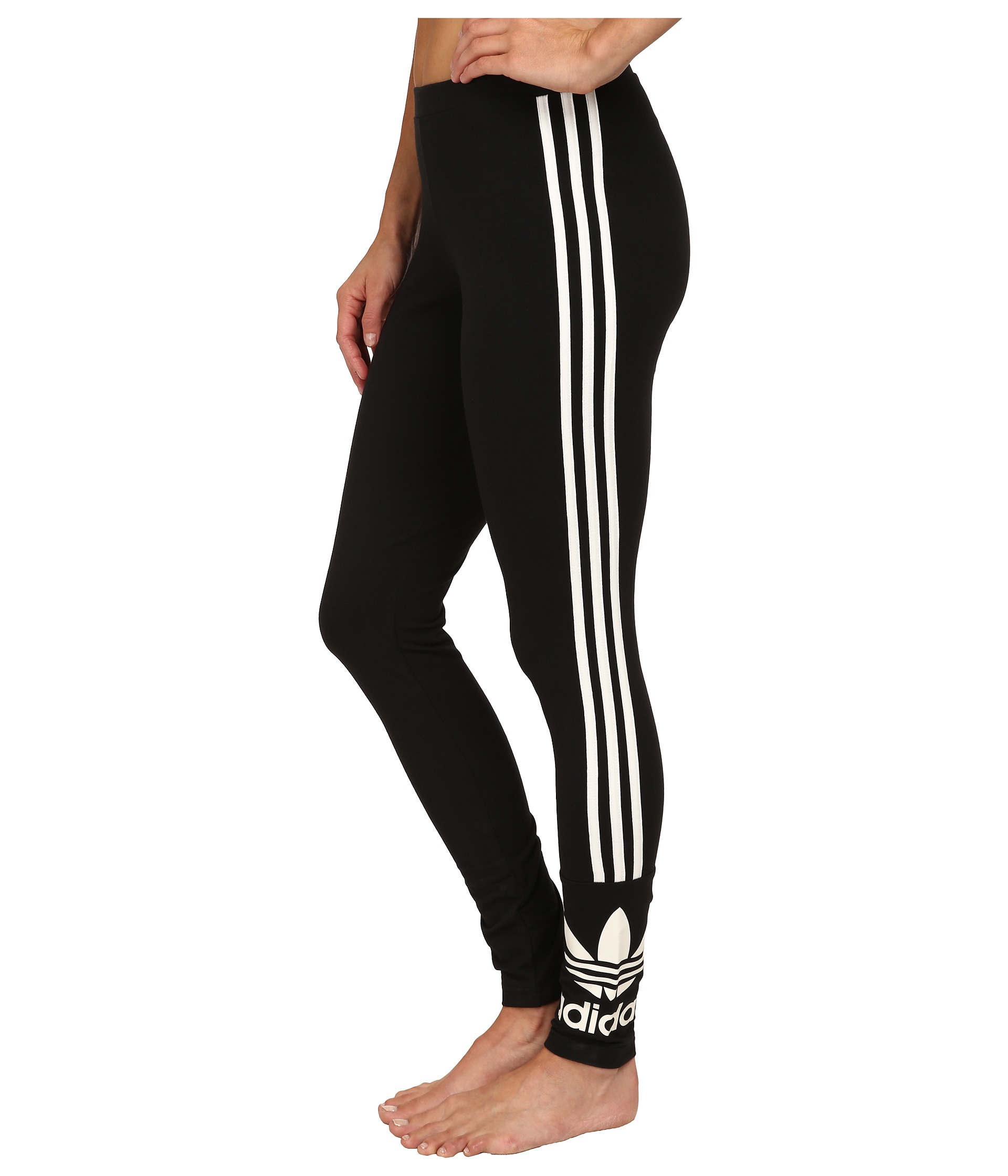 Lyst - adidas Originals 3-stripes Leggings in Black 0205cba5f35e