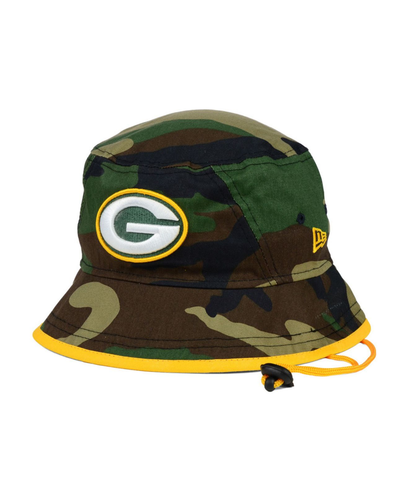 e0bcaf4ee68f1 ... where can i buy lyst ktz green bay packers camo pop bucket hat in green  for