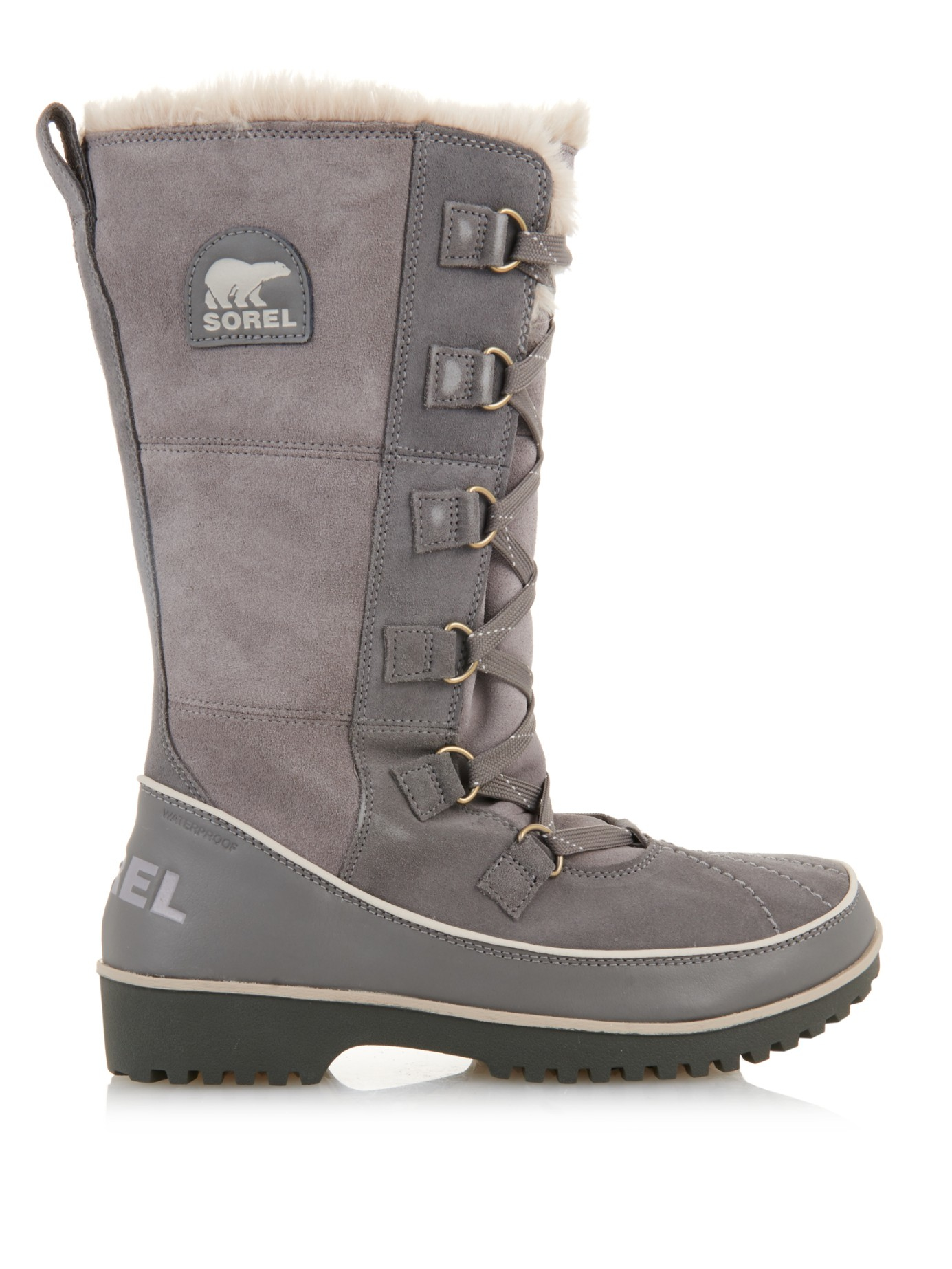 Sorel Tivoli Ii Suede Snow Boots In Gray Lyst