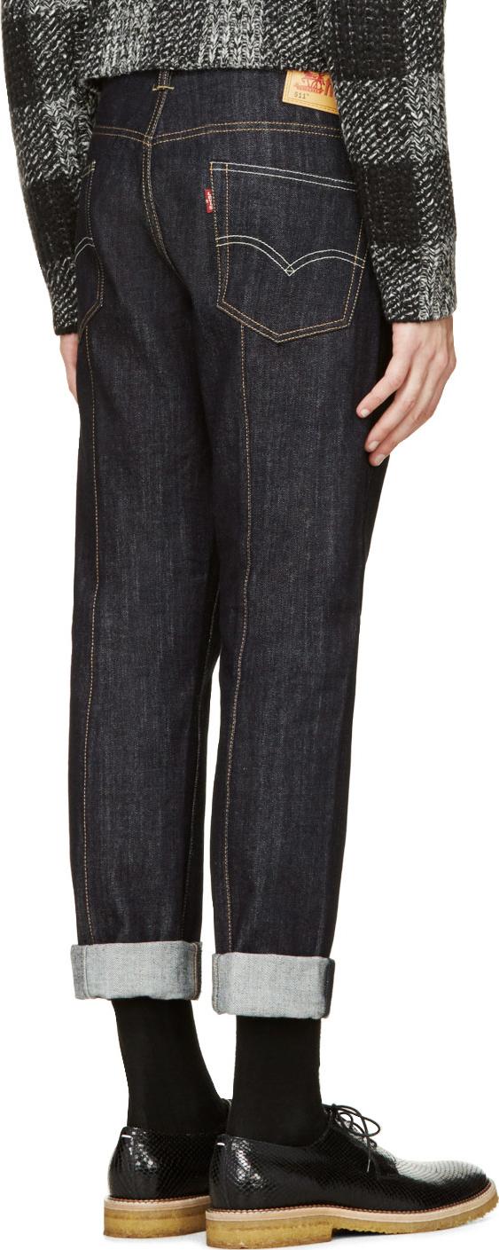 Lyst Junya Watanabe Indigo Levis 511 Edition Jeans In