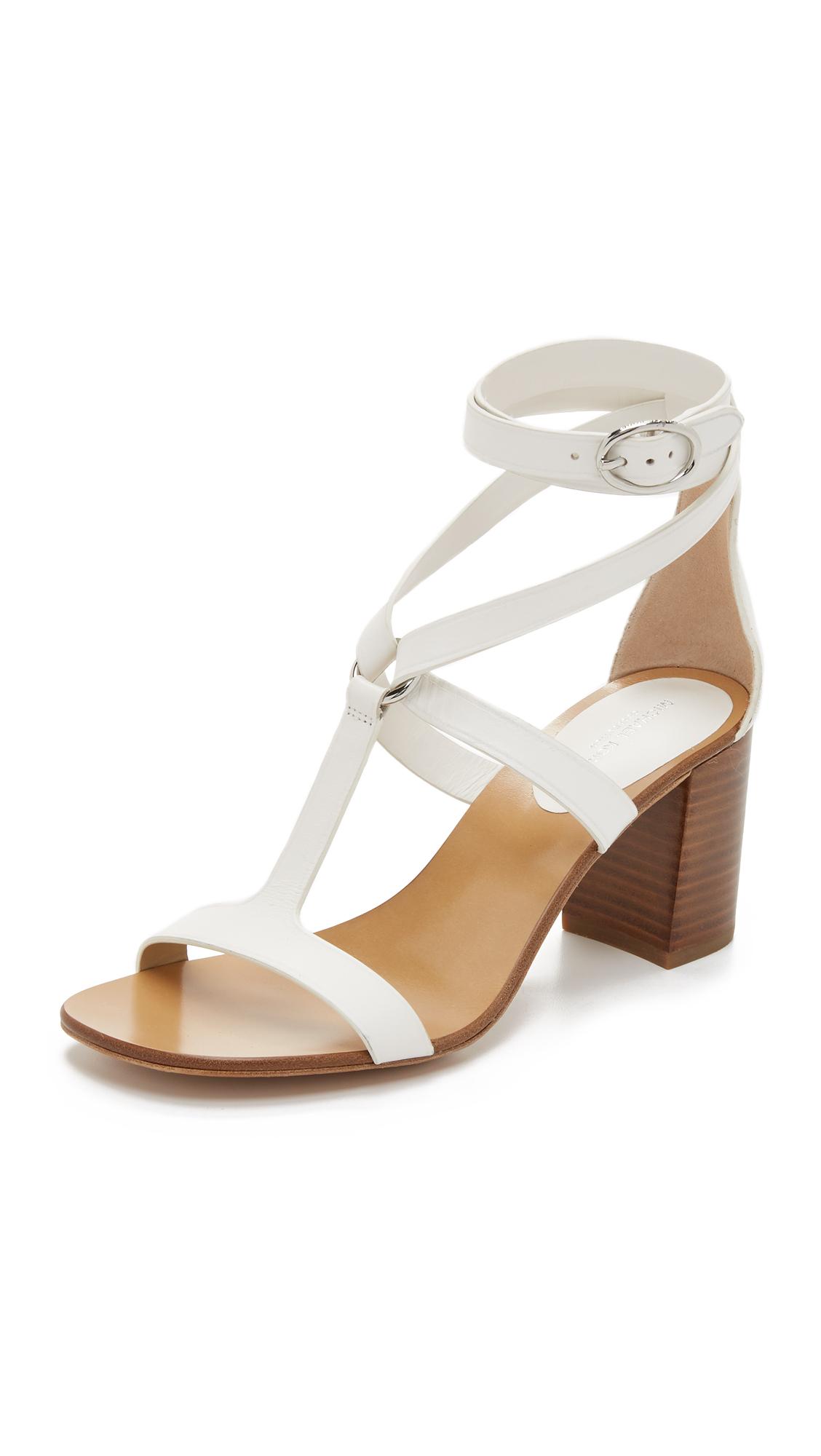 Michael kors Ellison City Sandals in White | Lyst