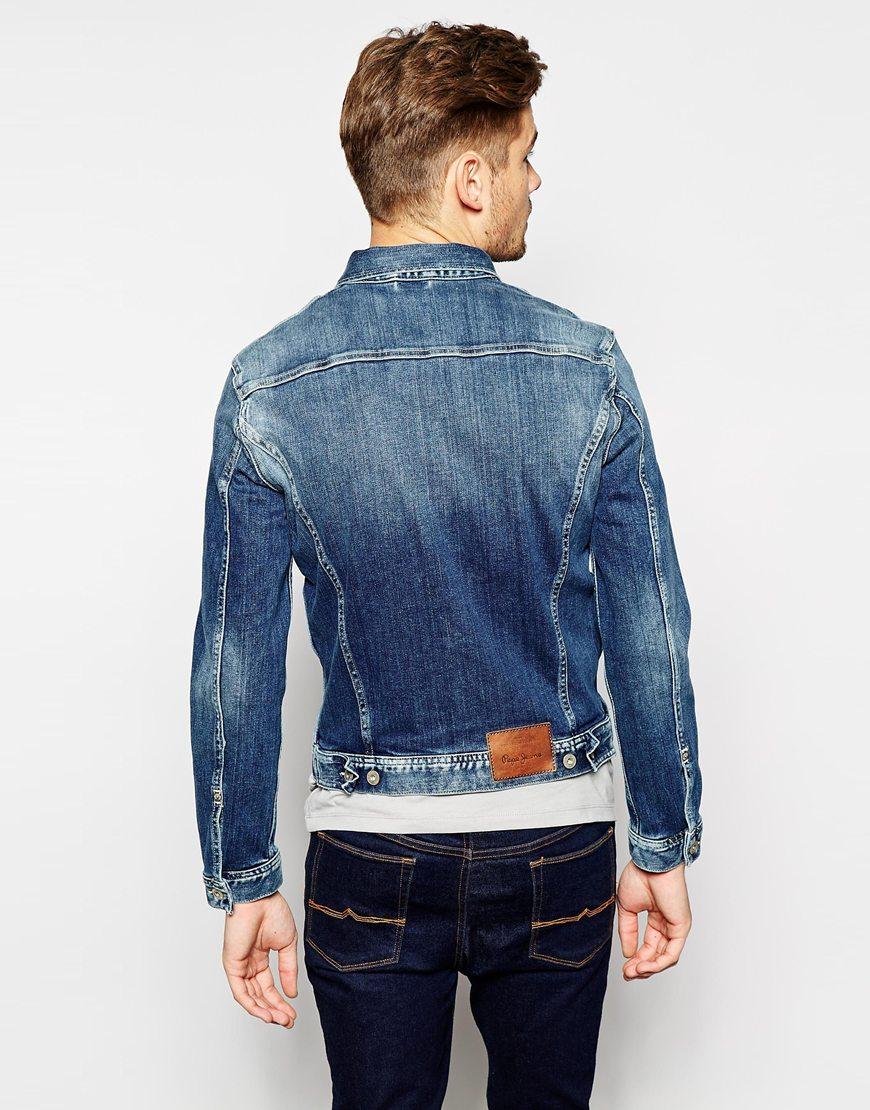 pepe jeans pepe denim jacket rooster slim fit stretch tied. Black Bedroom Furniture Sets. Home Design Ideas