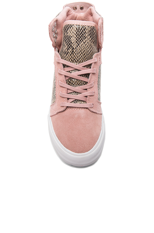 lyst supra x elyse walker skytop wedge sneaker in pink