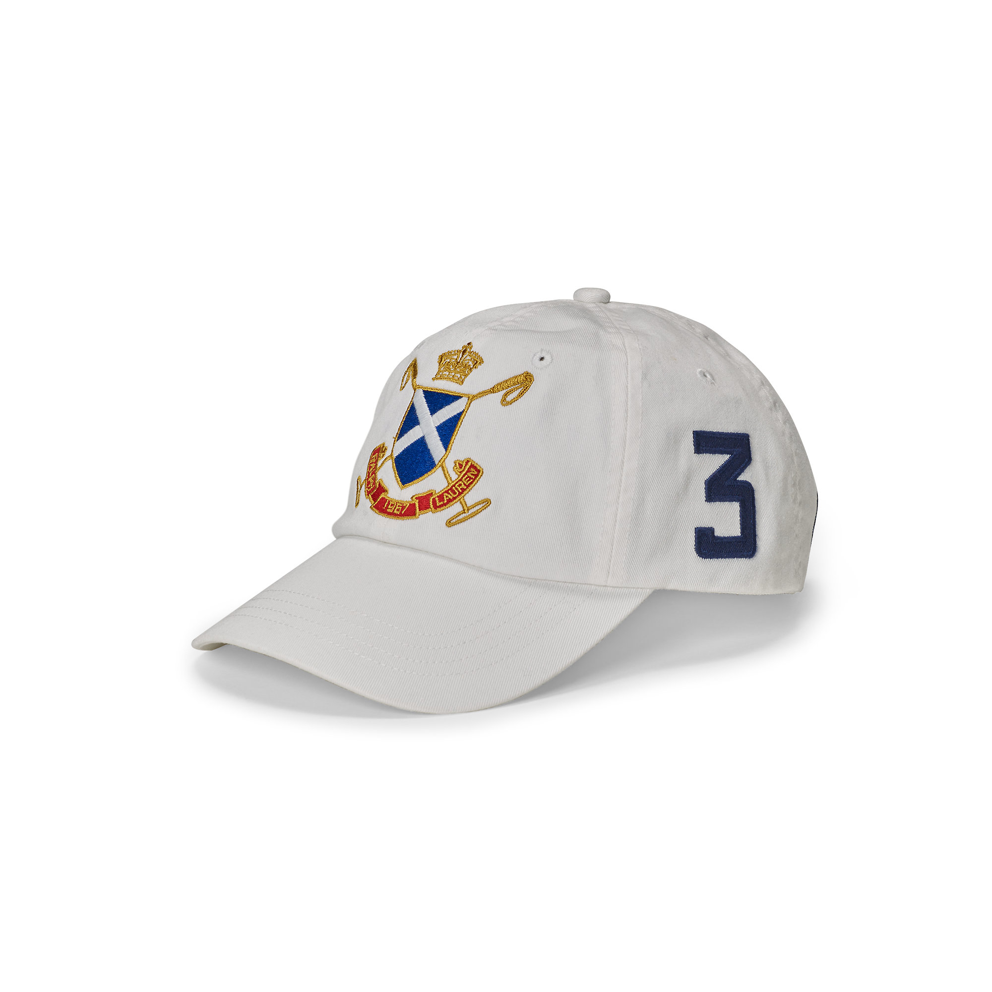 fe36b126301cf Polo Ralph Lauren Blackwatch Cotton Baseball Cap in White for Men - Lyst