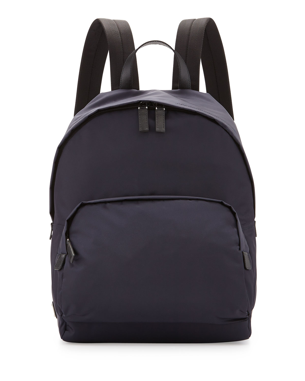 4ddae928174101 ... good lyst prada zaino mens clean nylon backpack in blue for men 1bdbd  c1578