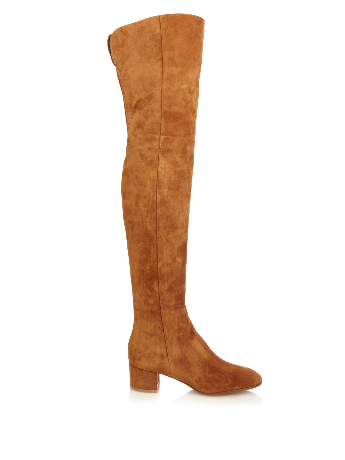 8ced46b80e1 Lyst - Gianvito Rossi Rolling Over-The-Knee Suede Boots in Brown