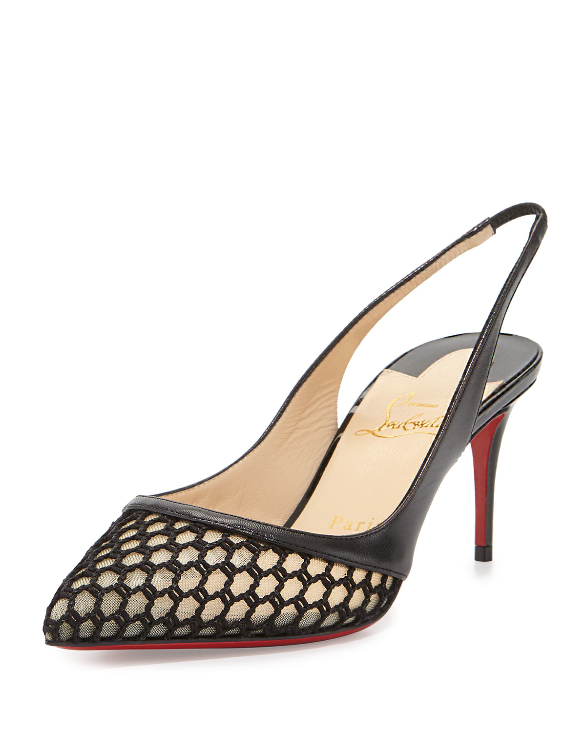 christian louboutin shoes on sale fake - Christian louboutin Miluna Low-heel Slingback Red Sole Pump in ...
