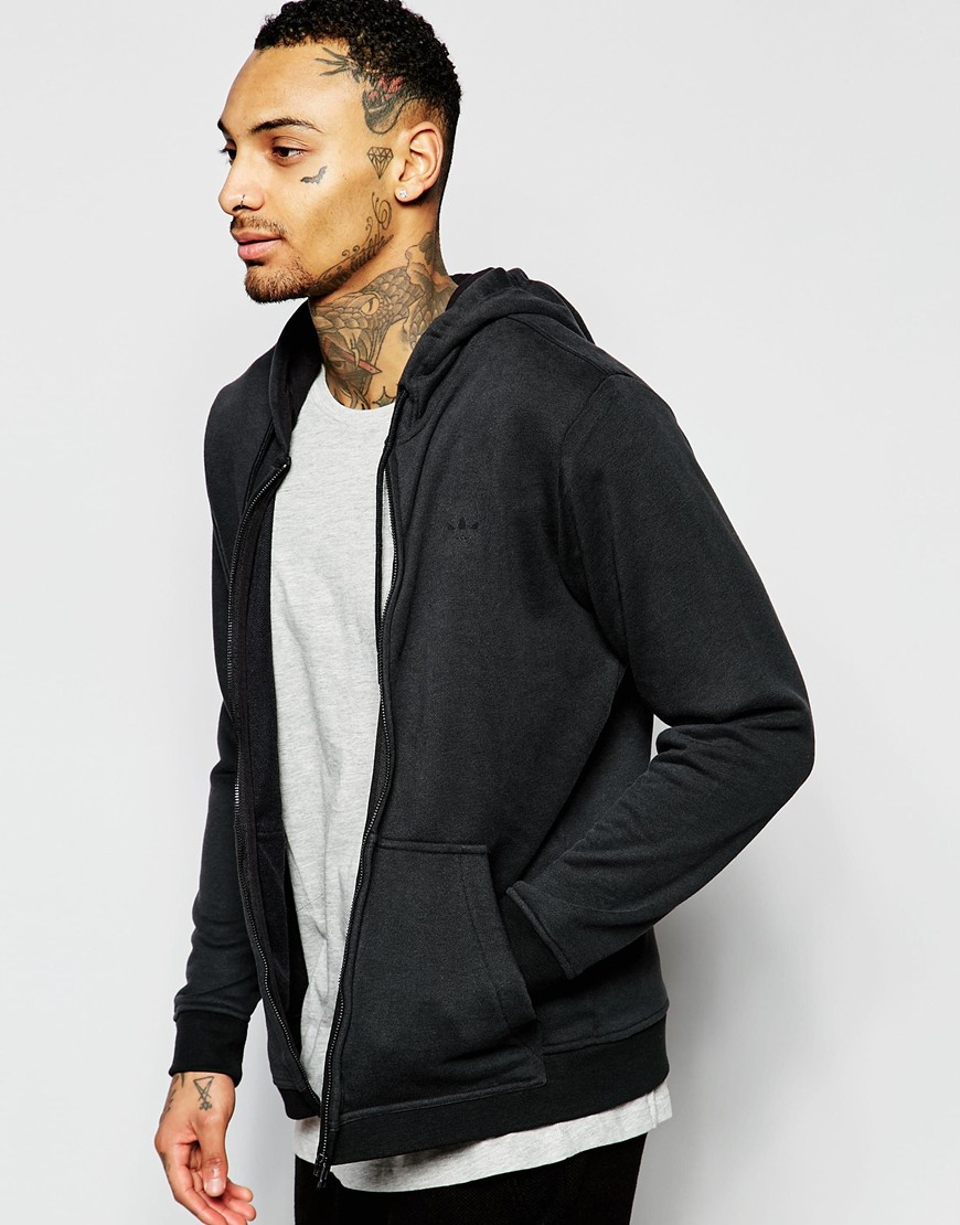 Adidas originals Essentials Zip Up Hoodie Aj7447 in Black for Men ...