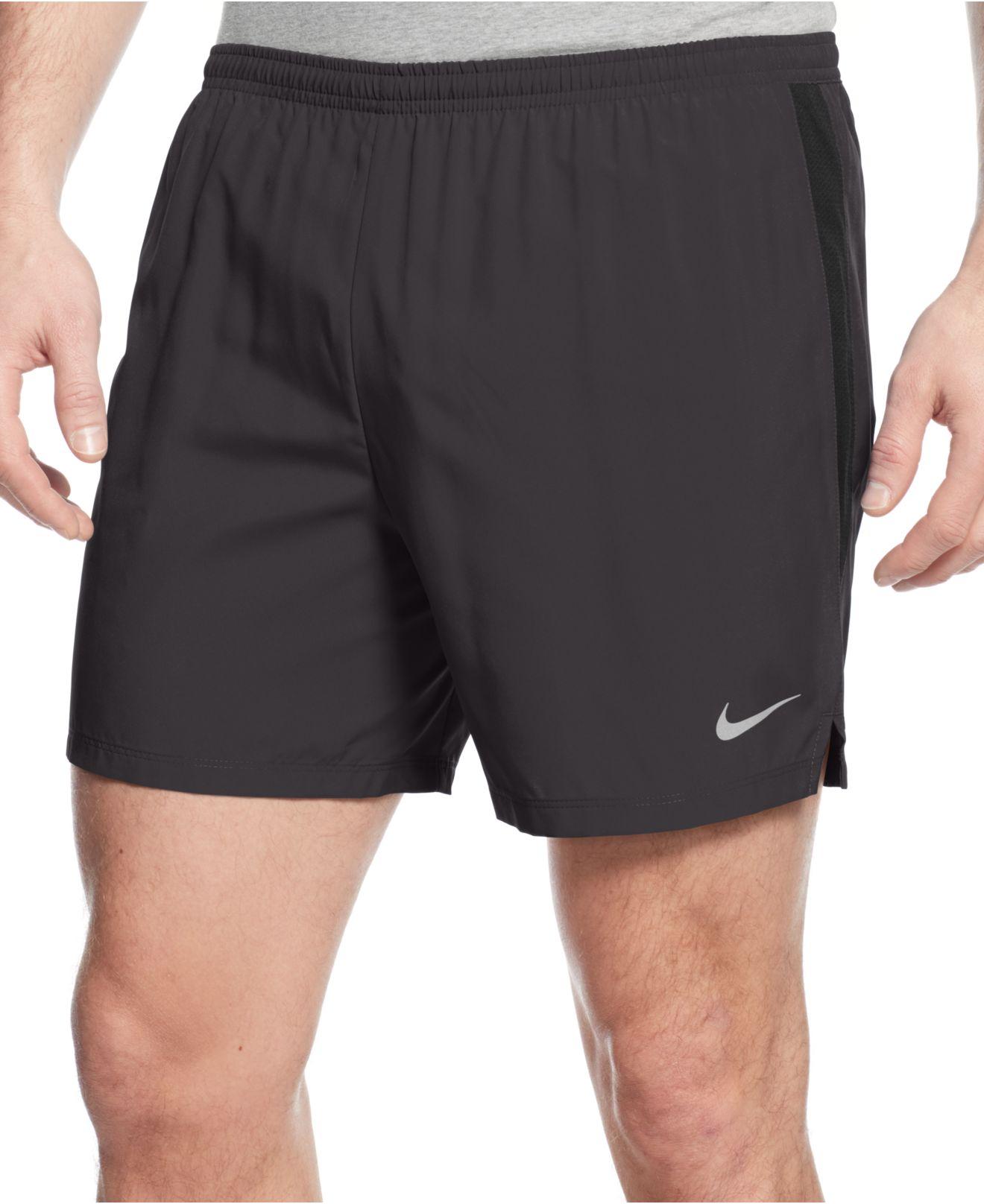 lyst nike 5 challenger dri fit shorts in gray for men. Black Bedroom Furniture Sets. Home Design Ideas