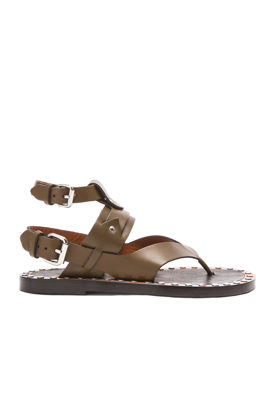 Isabel Marant Circus Maximus Leather Thong Sandals