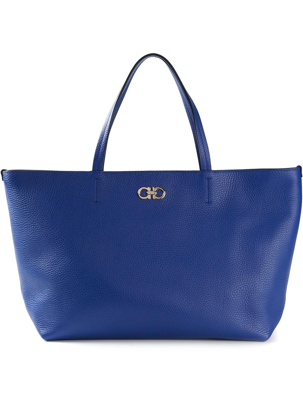 Fourre-tout Shopper Classique - Salvatore Bleu Ferragamo NRzdTqHw
