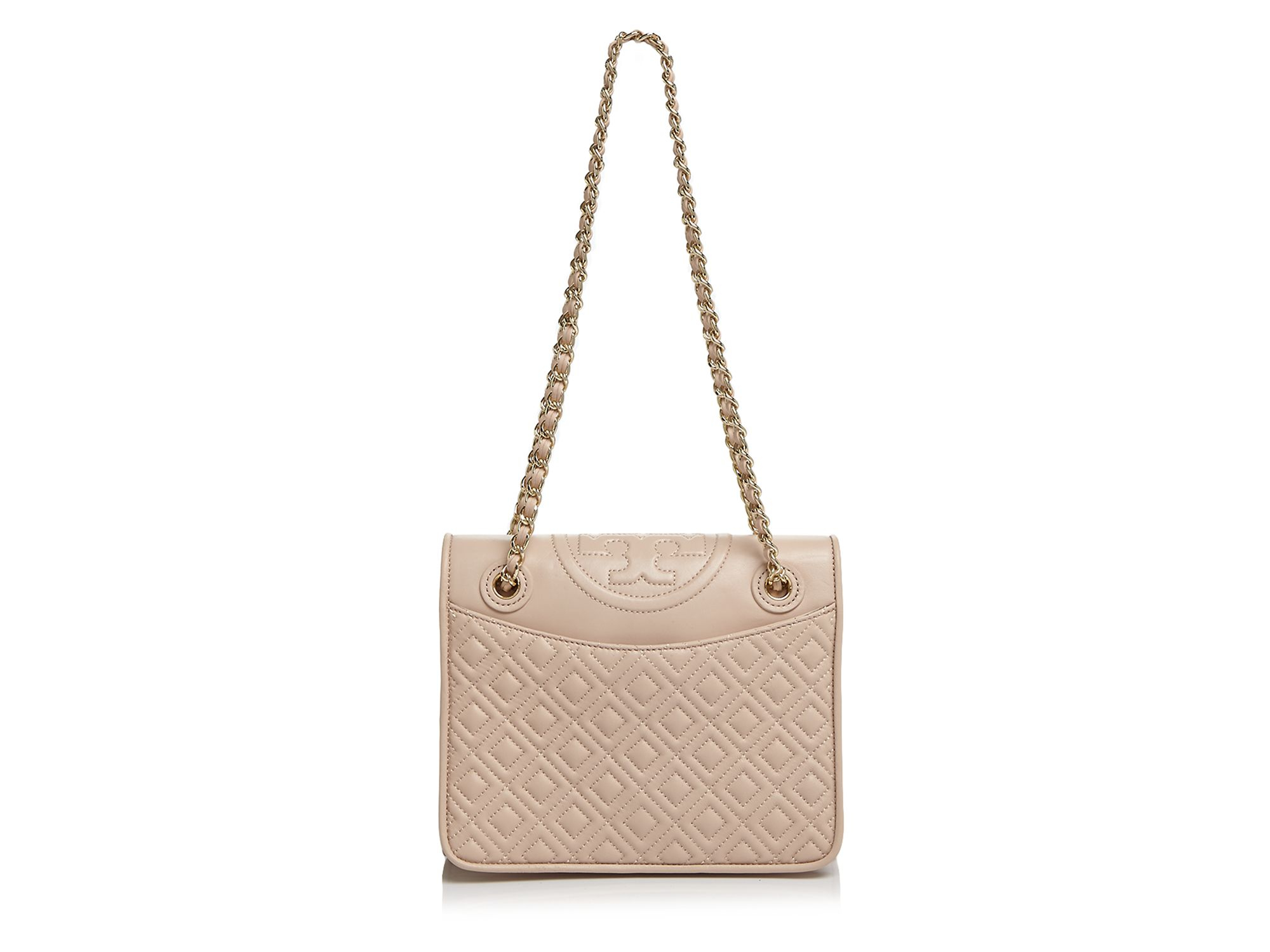 d6c465af8bf Tory Burch Fleming Medium Shoulder Bag in Natural - Lyst