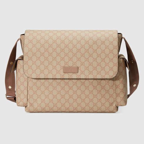 86ea66eb292 Lyst - Gucci Gg Supreme Diaper Bag in Pink