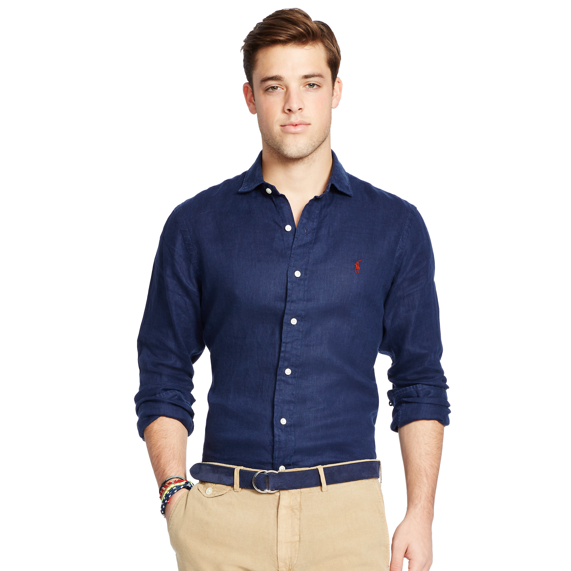 3e959c19d Polo Ralph Lauren Estate Linen Sport Shirt in Blue for Men - Lyst