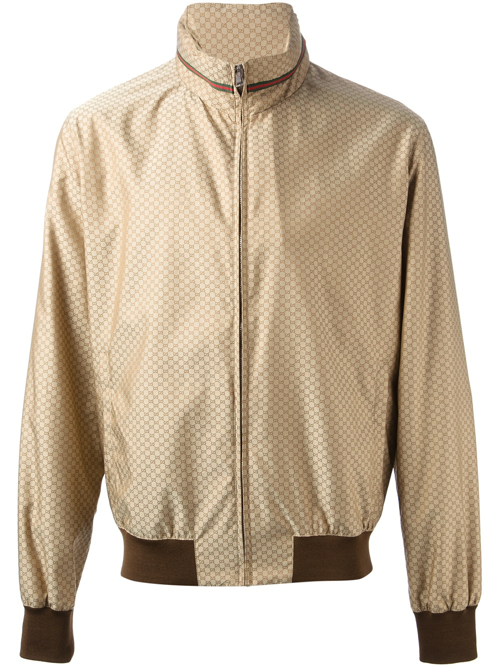 Lyst Gucci Monogram Bomber Jacket In Brown For Men