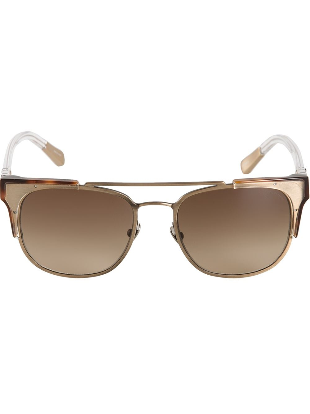 Kris Van Assche Rectangular Frame Sunglasses in Gold for ...