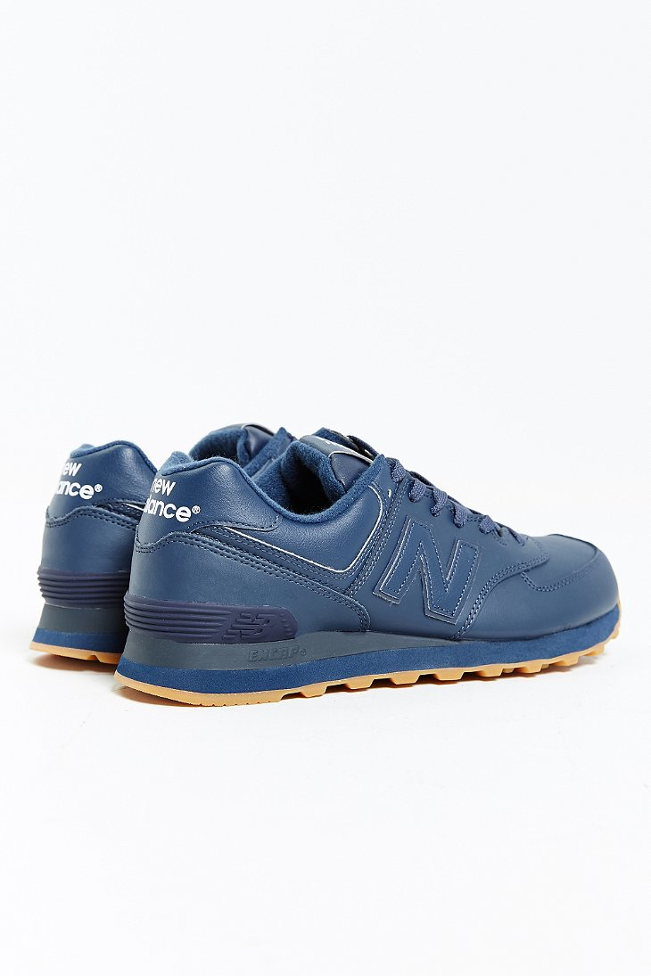 new balance 574 leather blue