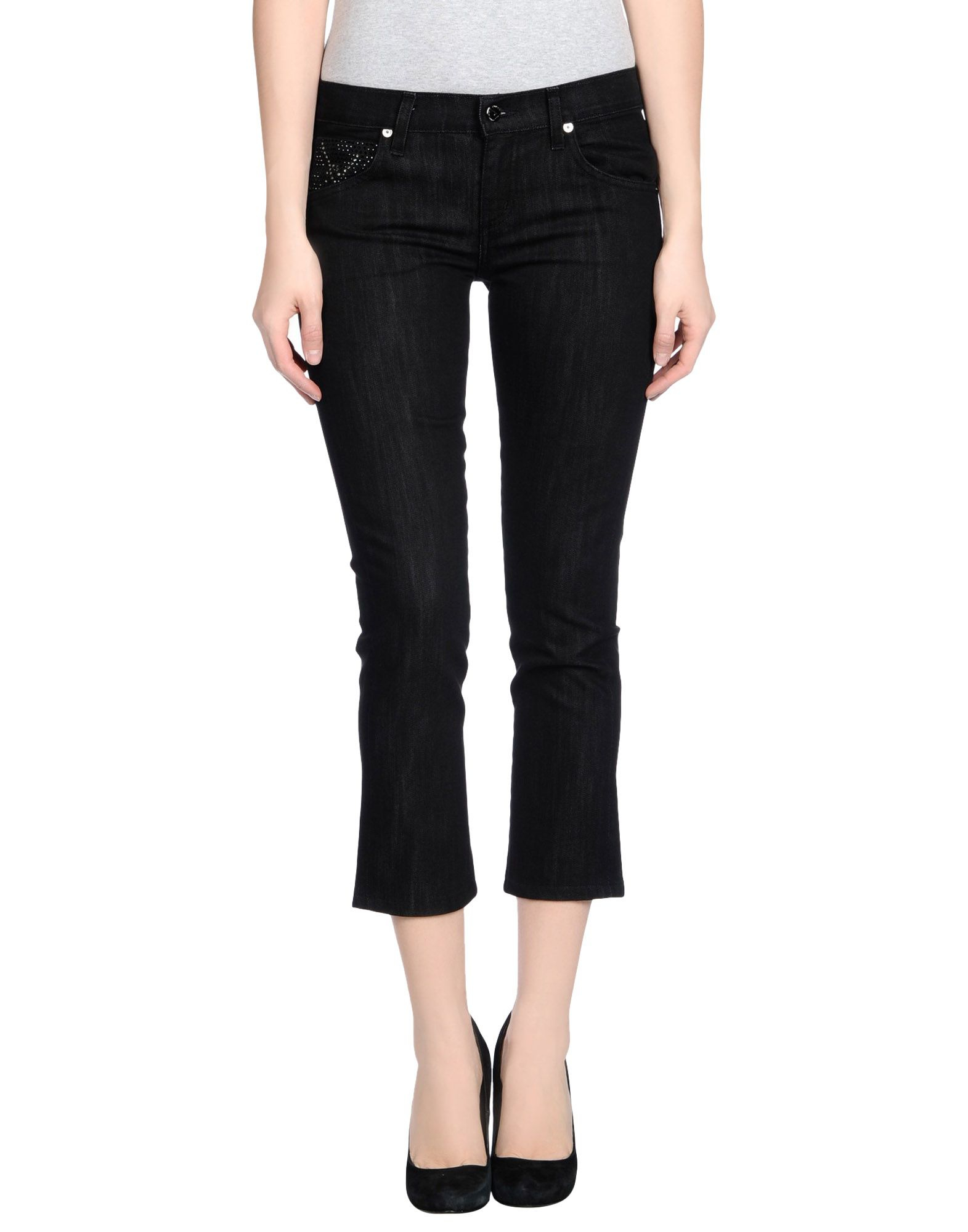 citizens of humanity denim trousers in black lyst. Black Bedroom Furniture Sets. Home Design Ideas