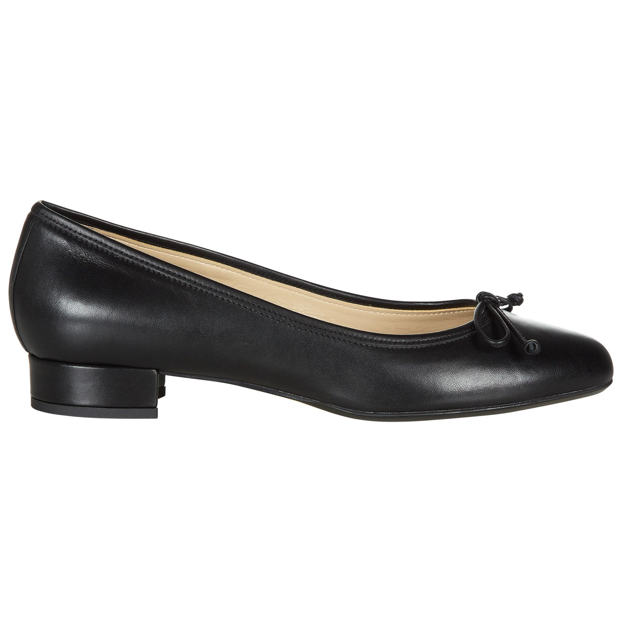 1653912efd1 Hobbs Poppy Leather Block Heel Ballerina Pumps in Black - Lyst